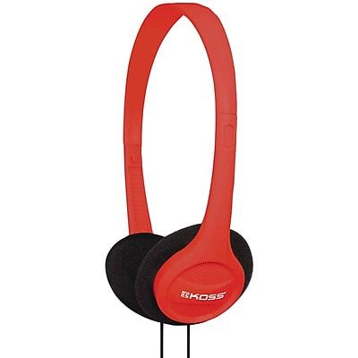 Koss® KPH7 Portable On-Ear Headphones, Red
