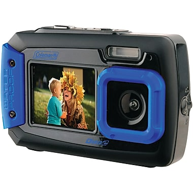 Coleman® 2V9WP 20.0 Megapixel Duo2 Dual Screen Waterproof Digital Cameras