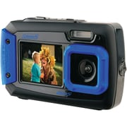 Coleman® Duo2 2V9WP Dual-Screen Waterproof Digital Camera, 20 MP, Blue