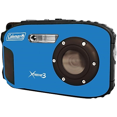 Coleman® Xtreme3 C9WP Waterproof Digital Camera, 20 MP, Blue