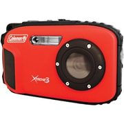 Coleman® C9WP 20.0 Megapixel Xtreme3 HD/Video Waterproof Digital Camera, Red