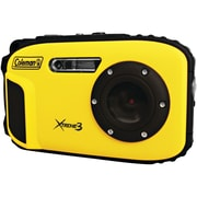 Coleman® C9WP 20.0 Megapixel Xtreme3 HD/Video Waterproof Digital Camera, Yellow