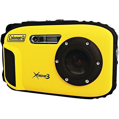 Coleman® Xtreme3 C9WP Waterproof Digital Camera, 20 MP, Yellow
