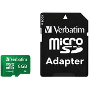 Verbatim Tablet MicroSDHC Card with Adapter UHS-1, Class 10, 8GB, Green (VTM44042)