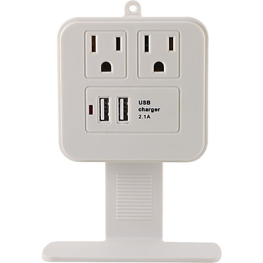 GE 2 Outlet 245 Joule Surge Protector Wall Tap With USB Port