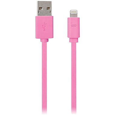 iessentials 3.3' Flat Lightning™ to USB Charge/Sync Cable, Pink