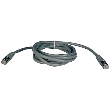 Tripp Lite® 25' Cat-5e RJ45 Male To Male Molded Shielded Patch Cable, Gray