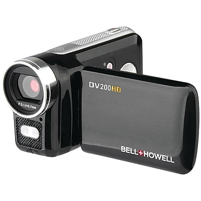 Image of Bell & Howell Dv200HD 5.0 Megapixel High-Definition Digital Video Camcorder, Black