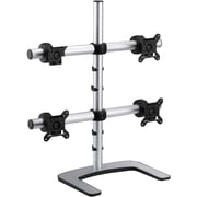 "Visidec® Freestanding 2 x 2 Quad Mount For Four 25"" Monitors, Silver"
