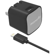 DigiPower® InstaSense™ 2.4A Single USB Wall Charger Kit With Lightning™ Cable, Black