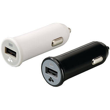 Kanex USB Car Charger for iPod/iPhone/iPad, White/Black, 2/Pack