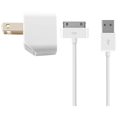 Kanex® 3' 1 A USB Wall Charger With 30-Pin Cable Kit, White
