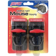 PIC® Simple Plastic Mouse Trap, 2/Pack
