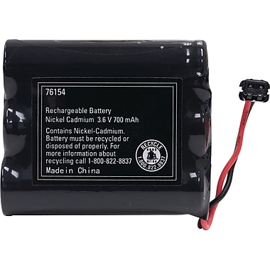 GE 76154 Cordless Phone Replacement Battery For Panasonic/Sony/Uniden/Toshiba