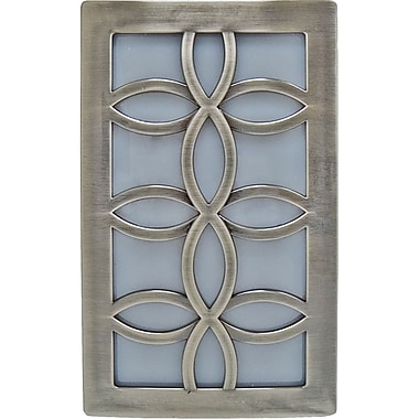 GE Faux Nickel Leaf Design Night Light