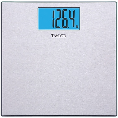Taylor 73454012WK Electronic Digital Scale With Stainless Steel Textured Platform