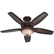 "Hunter 54"" Claymore Ceiling Fan, Brushed Cocoa"