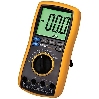 Pyle® Digital LCD Multimeter With Test Leads & Stand