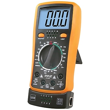 Pyle® Digital Backlit LCD Multimeter