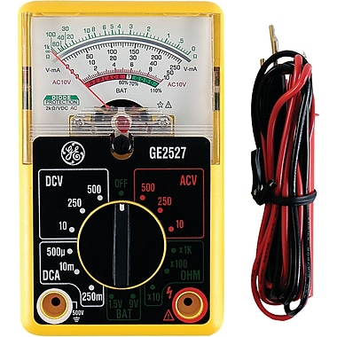 GE 14-Range 6-Function Analog Multimeter