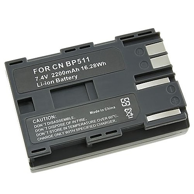 Insten® 240188 7.4 V 2200mAh Rechargeable Li-ion Battery For Canon BP-511; Black