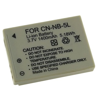 Insten 3.7 VDC 1400mAh Rechargeable Li-ion Battery For Canon NB-5(212666)