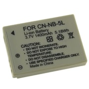 Insten® 212666 3.7 V 1400mAh Rechargeable Li-ion Battery For Canon NB-5L; Gray