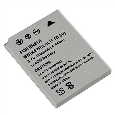 Insten® 209574 3.7 V 1200mAh Rechargeable Li-ion Battery For Nikon EN-EL8; Gray