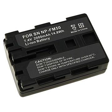 Insten 290803 7.4 VDC 2000mAh Rechargeable Li-ion Battery For Sony NP-FM50/NP-FM30; Black