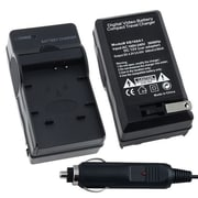 Insten® 247718 4.2   0.5 VDC Compact Battery Charger Set For Panasonic CGA-S007 / DMW-BCD10, Black