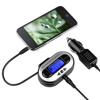 Insten® 337645 88.1-107.9 MHz All Channel FM Transmitter With USB Port, Black