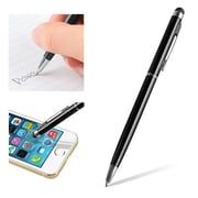 "Insten® 1860581 5 1/2"" Metal 2-in-1 Capacitive Touch Screen Stylus Ballpoint Pen, Black"