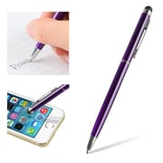 "Insten® 1860581 5 1/2"" Metal 2-in-1 Capacitive Touch Screen Stylus Ballpoint Pen, Purple"