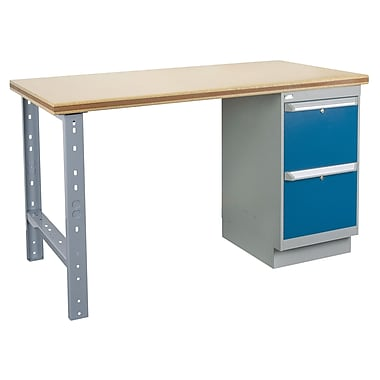 Kleton Workbench, Shop Top, 1 Pedestal and 2 Drawers, 24