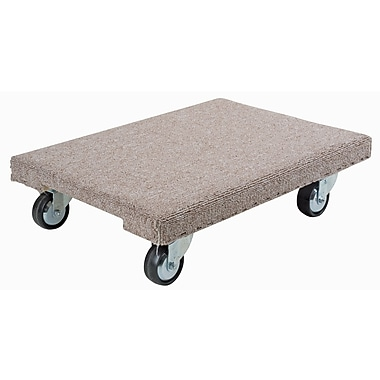 Kleton Medium Duty Maple Dollies, Carpeted, 24