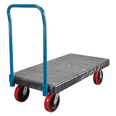 Kleton - Chariot à plateforme en plastique, 30 larg. x 60 long., roulettes en polyuréthane de 8 po