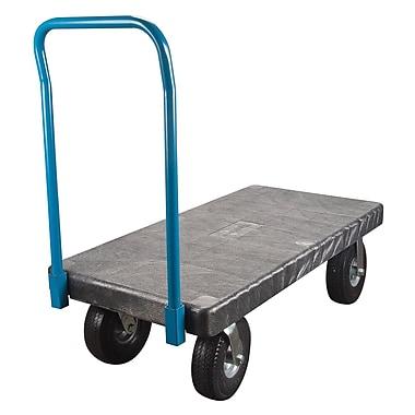 Kleton – Chariot à plateforme en plastique, 30 larg. x 60 long., roulettes anti-crevaison de 10 po