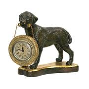 Sterling Industries 58291-16479 Bronze Analog Table Clock, Metallic/Tan