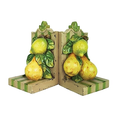 Sterling Industries 58293-07259 Set of 2 Le Jardin Decorative Bookends, Green/Yellow