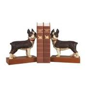 Sterling Industries 58293-07979 Set of 2 Boston Terrier Decorative Bookends, Brown/White