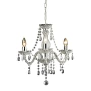 "Sterling Industries 582144-0159 18"" 3 Light Chandelier, Chrome"