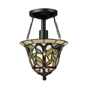 "Elk Lighting Latham 58270114-19 11"" 1 Light Semi Flush Mount, Tiffany Bronze"