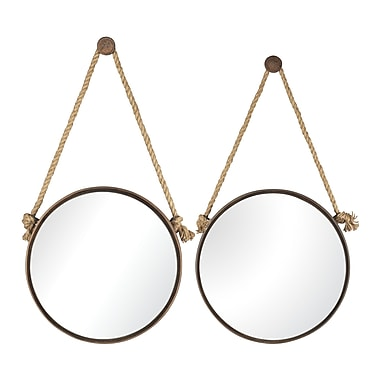 Sterling Industries 58253-85029 Multiple Size Wall Mirror, Set of 2
