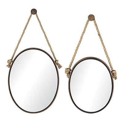 Sterling Industries 58253-85039 Multiple Size Wall Mirror, Set of 2