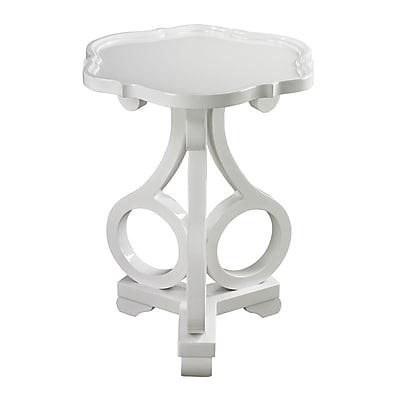 Sterling Industries Novelty Wood/Veneer End Table, White, Each (582136-0039)