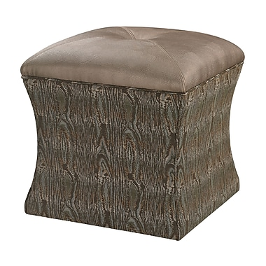 Sterling Industries Luxe 582139-0119 Wood/Fabric Ottoman, Green