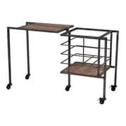 Sterling Industries 58251-100239 Black Iron/Wood Storage Bench