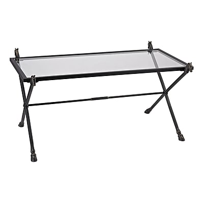Sterling Industries 582148 Glass Coffee Table, Bronze, Each (582148-0019)