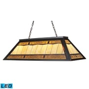 "Elk Lighting Filigree 58270113-4-LED9 18"" 4 Light Billiard, Tiffany Bronze"