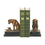 Sterling Industries 58291-14529 Set of 2 Turtle Under Study Decorative Bookends, Bronze/Gold